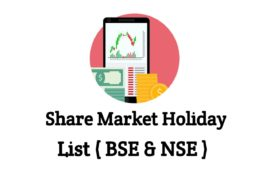 Share market holiday list in india