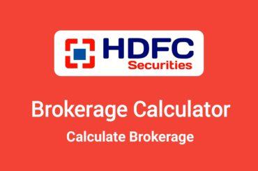 HDFC Securities Brokerage Calculator