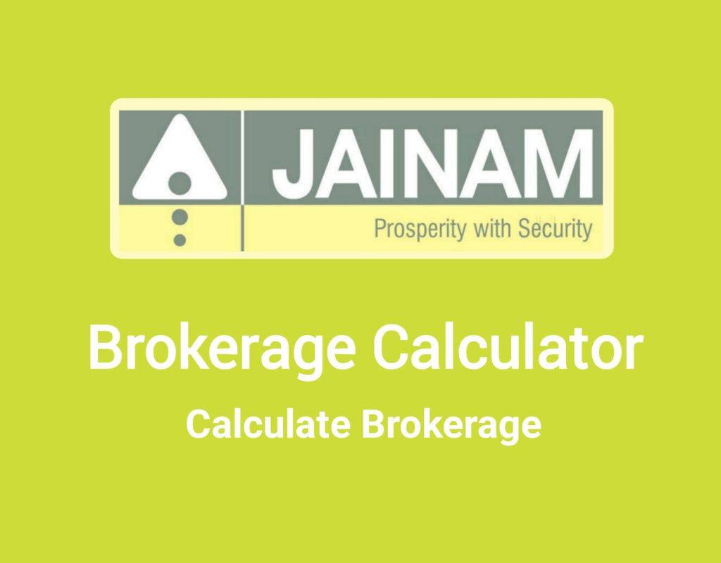 Jainam Brokerage Calculator