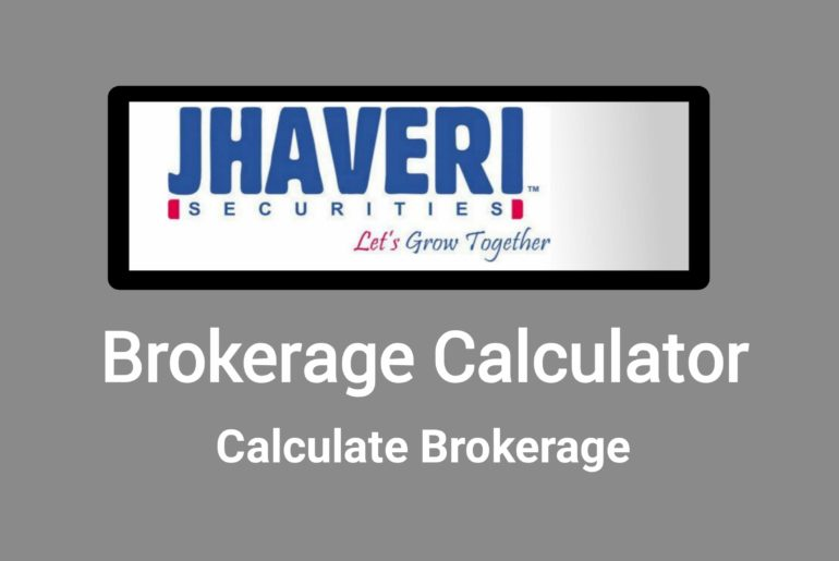 Jhaveri Brokerage Calculator