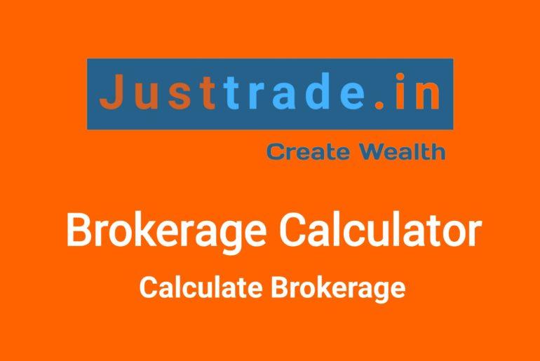 Just Trade Brokerage Calculator