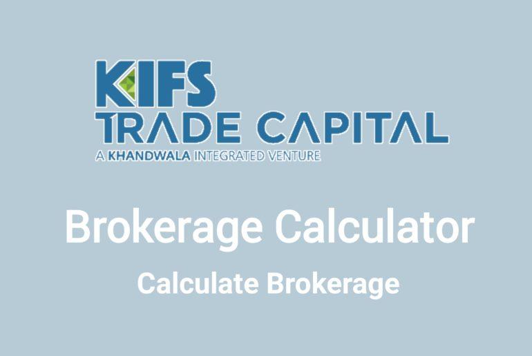 KIFS Trade Brokerage Calculator